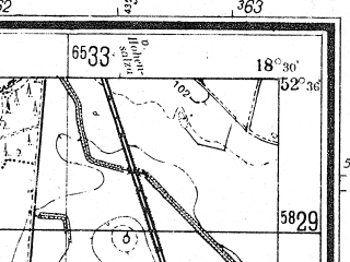 Reduced fragment of topographic map de--mb--025k--34_076--(1944)--N052-36_E018-20--N052-30_E018-30