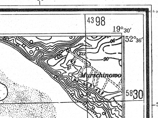 Reduced fragment of topographic map de--mb--025k--34_082--(1944)--N052-36_E019-20--N052-30_E019-30