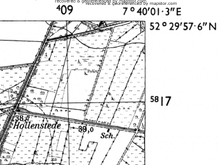 Reduced fragment of topographic map de--mb--025k--35_011-ams--(1955)--N052-30_E007-30--N052-24_E007-40