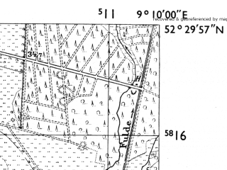 Reduced fragment of topographic map de--mb--025k--35_020-ams--(1955)--N052-30_E009-00--N052-24_E009-10
