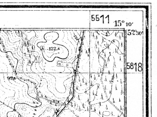 Reduced fragment of topographic map de--mb--025k--35_056--(1945)--N052-30_E015-00--N052-24_E015-10; towns and cities Sulecin