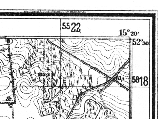 Reduced fragment of topographic map de--mb--025k--35_057--(1932)--N052-30_E015-10--N052-24_E015-20