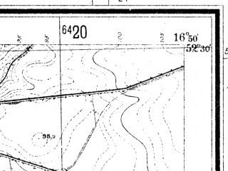 Reduced fragment of topographic map de--mb--025k--35_066--(1936)--N052-30_E016-40--N052-24_E016-50