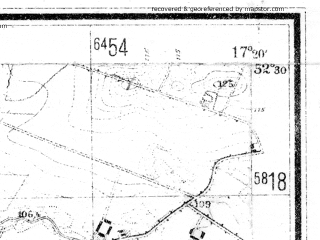 Reduced fragment of topographic map de--mb--025k--35_069--(1944)--N052-30_E017-10--N052-24_E017-20; towns and cities Pobiedziska