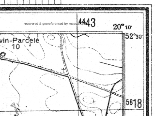 Reduced fragment of topographic map de--mb--025k--35_086--(1944)--N052-30_E020-00--N052-24_E020-10