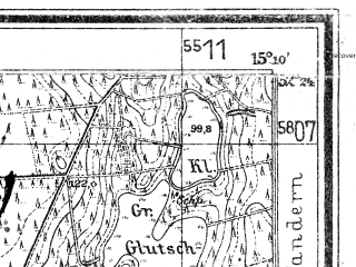 Reduced fragment of topographic map de--mb--025k--36_056--(1939)--N052-24_E015-00--N052-18_E015-10
