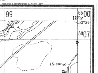 Reduced fragment of topographic map de--mb--025k--36_073--(1940)--N052-24_E017-50--N052-18_E018-00