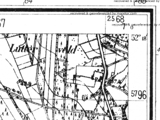Reduced fragment of topographic map de--mb--025k--37_007--(1939)--N052-18_E006-50--N052-12_E007-00; towns and cities Enschede