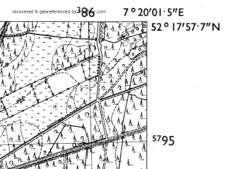 Reduced fragment of topographic map de--mb--025k--37_009-ams--(1955)--N052-18_E007-10--N052-12_E007-20