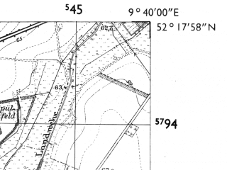 Reduced fragment of topographic map de--mb--025k--37_023-ams--(1955)--N052-18_E009-30--N052-12_E009-40