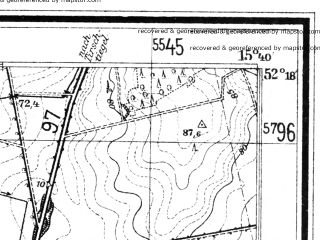 Reduced fragment of topographic map de--mb--025k--37_059--(1933)--N052-18_E015-30--N052-12_E015-40; towns and cities Swiebodzin