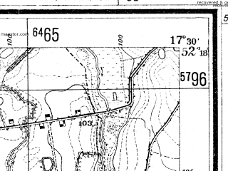 Reduced fragment of topographic map de--mb--025k--37_070--(1936)--N052-18_E017-20--N052-12_E017-30; towns and cities Miloslaw