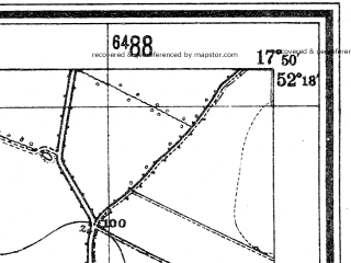 Reduced fragment of topographic map de--mb--025k--37_072--(1944)--N052-18_E017-40--N052-12_E017-50