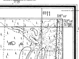 Reduced fragment of topographic map de--mb--025k--37_074--(1940)--N052-18_E018-00--N052-12_E018-10