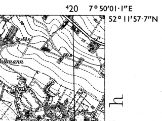 Reduced fragment of topographic map de--mb--025k--38_012-ams--(1955)--N052-12_E007-40--N052-06_E007-50