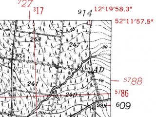 Reduced fragment of topographic map de--mb--025k--38_039-ams--(1952)--N052-12_E012-10--N052-06_E012-20