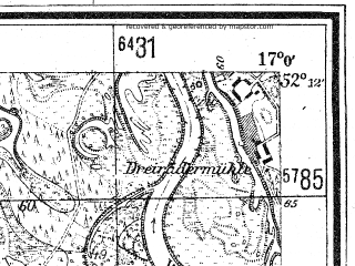 Reduced fragment of topographic map de--mb--025k--38_067--(1944)--N052-12_E016-50--N052-06_E017-00