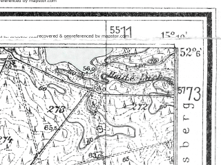 Reduced fragment of topographic map de--mb--025k--39_056--(1933)--N052-06_E015-00--N052-00_E015-10