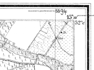 Reduced fragment of topographic map de--mb--025k--39_058--(1935)--N052-06_E015-20--N052-00_E015-30; towns and cities Czerwiensk