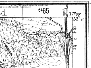 Reduced fragment of topographic map de--mb--025k--39_070--(1940)--N052-06_E017-20--N052-00_E017-30