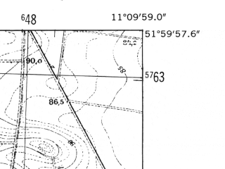 Reduced fragment of topographic map de--mb--025k--40_032-ams--(1952)--N052-00_E011-00--N051-54_E011-10