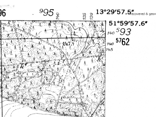 Reduced fragment of topographic map de--mb--025k--40_046-ams--(1952)--N052-00_E013-20--N051-54_E013-30