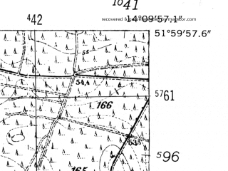 Reduced fragment of topographic map de--mb--025k--40_050-ams--(1952)--N052-00_E014-00--N051-54_E014-10