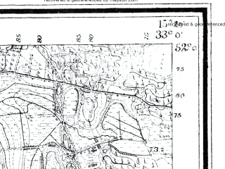 Reduced fragment of topographic map de--mb--025k--40_057--(1924)--N052-00_E015-10--N051-54_E015-20