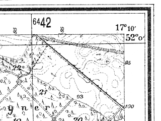 Reduced fragment of topographic map de--mb--025k--40_068--(1940)--N052-00_E017-00--N051-54_E017-10