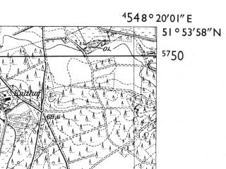 Reduced fragment of topographic map de--mb--025k--41_015-ams--(1955)--N051-54_E008-10--N051-48_E008-20; towns and cities Rheda, Wiedenbruck