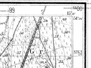 Reduced fragment of topographic map de--mb--025k--41_055--(1938)--N051-54_E014-50--N051-48_E015-00