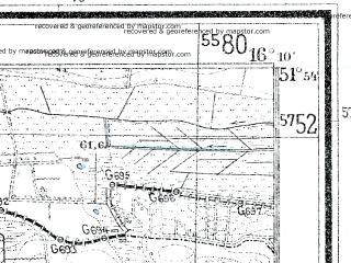 Reduced fragment of topographic map de--mb--025k--41_062--(1938)--N051-54_E016-00--N051-48_E016-10; towns and cities Slawa