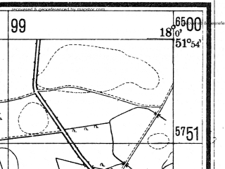 Reduced fragment of topographic map de--mb--025k--41_073--(1940)--N051-54_E017-50--N051-48_E018-00