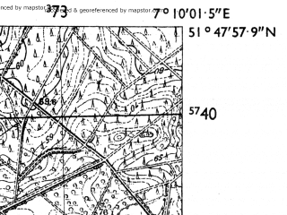 Reduced fragment of topographic map de--mb--025k--42_008-ams--(1955)--N051-48_E007-00--N051-42_E007-10