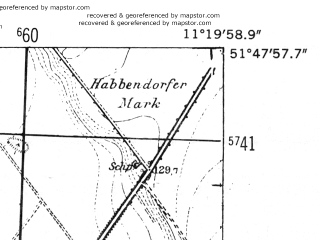 Reduced fragment of topographic map de--mb--025k--42_033-ams--(1952)--N051-48_E011-10--N051-42_E011-20