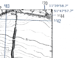 Reduced fragment of topographic map de--mb--025k--42_035-ams--(1952)--N051-48_E011-30--N051-42_E011-40