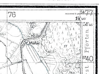 Reduced fragment of topographic map de--mb--025k--42_053--(1940)--N051-48_E014-30--N051-42_E014-40; towns and cities Forst