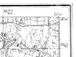 Reduced fragment of topographic map de--mb--025k--42_057--(1942)--N051-48_E015-10--N051-42_E015-20