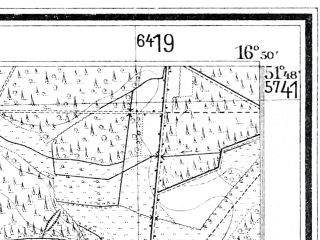 Reduced fragment of topographic map de--mb--025k--42_066--(1927)--N051-48_E016-40--N051-42_E016-50; towns and cities Poniec