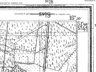 Reduced fragment of topographic map de--mb--025k--42_066--(1940)--N051-48_E016-40--N051-42_E016-50; towns and cities Poniec