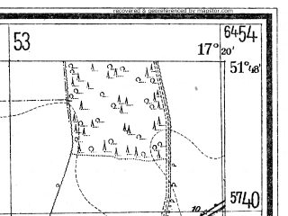 Reduced fragment of topographic map de--mb--025k--42_069--(1940)--N051-48_E017-10--N051-42_E017-20; towns and cities Kobylin