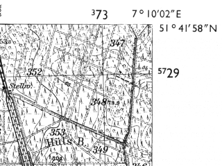 Reduced fragment of topographic map de--mb--025k--43_008-ams--(1955)--N051-42_E007-00--N051-36_E007-10; towns and cities Marl