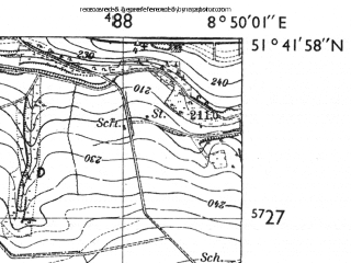 Reduced fragment of topographic map de--mb--025k--43_018-ams--(1955)--N051-42_E008-40--N051-36_E008-50