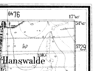 Reduced fragment of topographic map de--mb--025k--43_071--(1940)--N051-42_E017-30--N051-36_E017-40; towns and cities Sulmierzyce