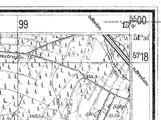 Reduced fragment of topographic map de--mb--025k--44_055--(1940)--N051-36_E014-50--N051-30_E015-00