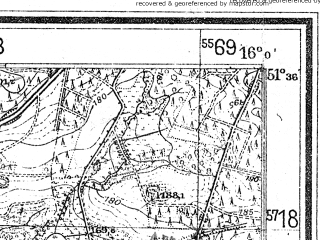 Reduced fragment of topographic map de--mb--025k--44_061--(1937)--N051-36_E015-50--N051-30_E016-00