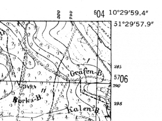 Reduced fragment of topographic map de--mb--025k--45_028-ams--(1952)--N051-30_E010-20--N051-24_E010-30