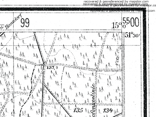 Reduced fragment of topographic map de--mb--025k--45_055--(1940)--N051-30_E014-50--N051-24_E015-00