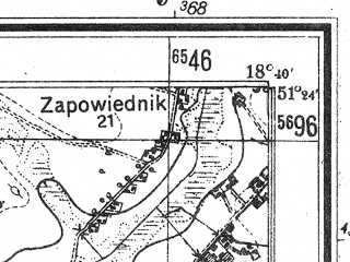 Reduced fragment of topographic map de--mb--025k--46_077--(1944)--N051-24_E018-30--N051-18_E018-40