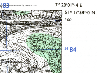 Download topographic map in area of Wuppertal mapstorcom